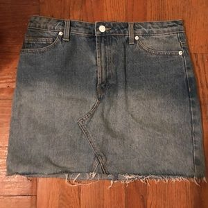 F21 Denim Cutoff Skirt